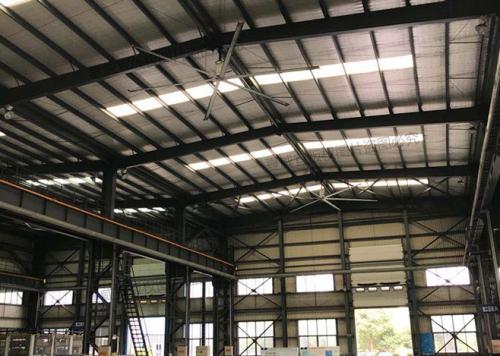 工业大风扇:钢构车间降温