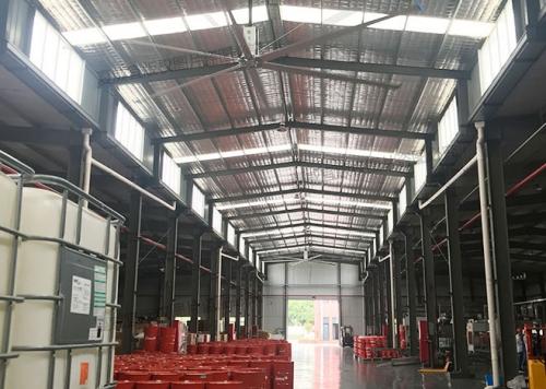 工业大吊扇:灌装车间通风